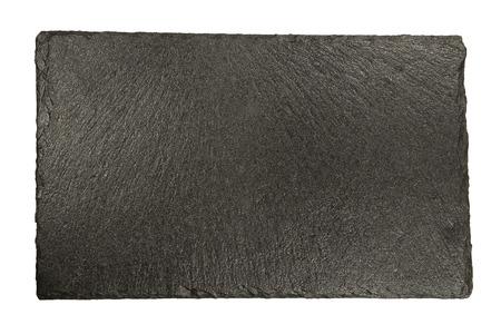 Granitplatte isoliert auf weißem Hintergrund Standard-Bild