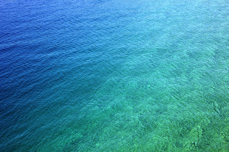 Turquoise sea water close up