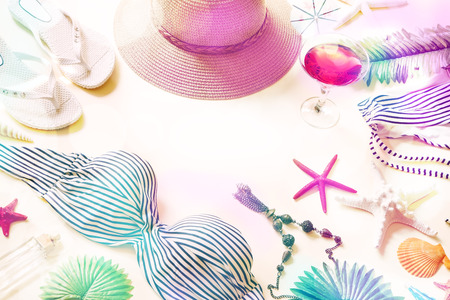 Beach accessories with a cocktail