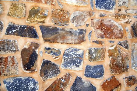 Rustic stone wall close up