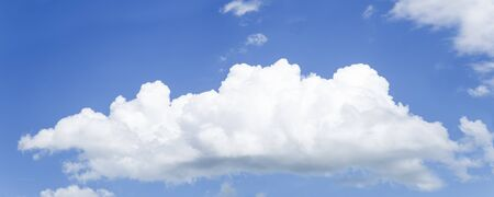 White cloud on blue sky Banco de Imagens