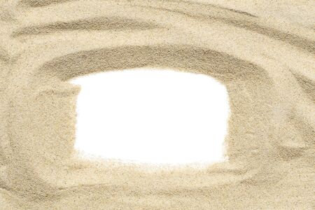 Sand frame isolated on white background Reklamní fotografie