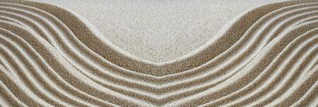 Sand pattern in the zen garden