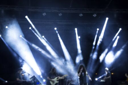 Rock concert performance with the rays of light Stock fotó