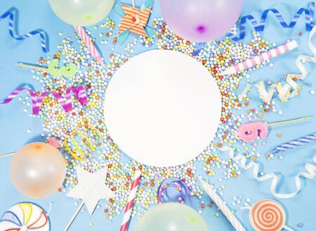 Party accessory on blue background