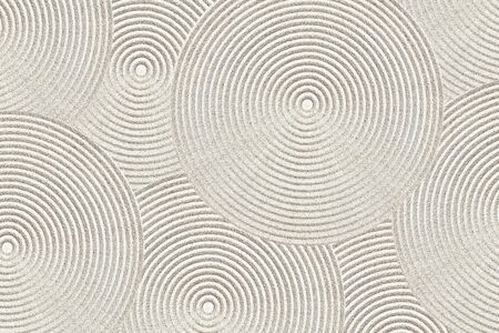 Zen circle pattern in sand Banco de Imagens