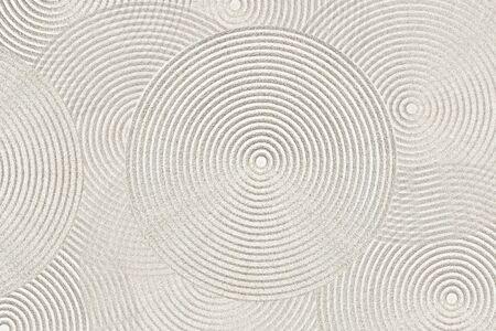 Zen circle pattern in sand Stock Photo