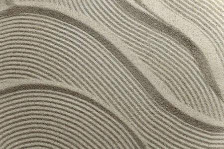 Sand pattern texture close up Banco de Imagens