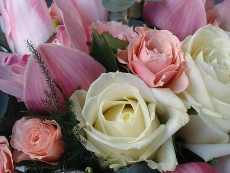 Detail of a bride bouquet photo