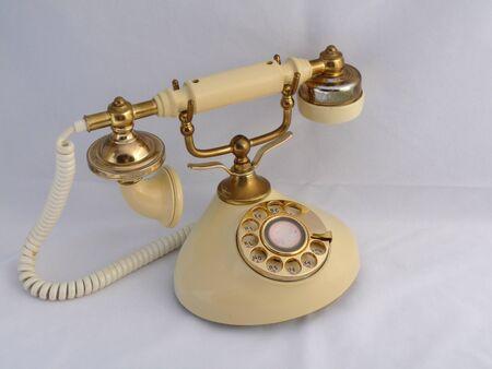 earpiece: Antique telephone Stock Photo
