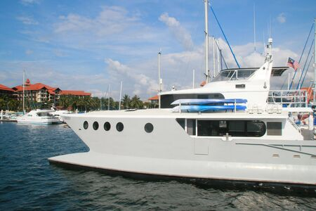 country club: Yacht at Sutera Harbour Marina & Country Club.