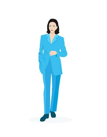 Vector illustration of a business woman
