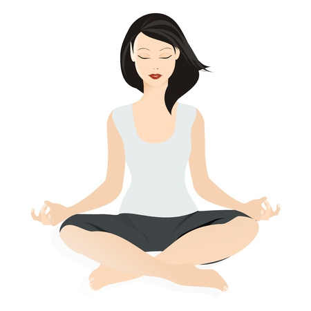 position: Yoga illustration