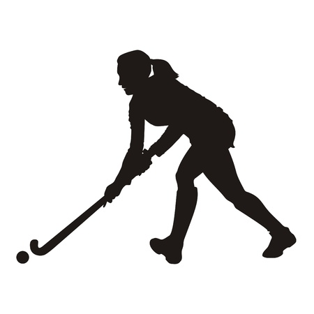 ball field: Field Hockey player silhouette