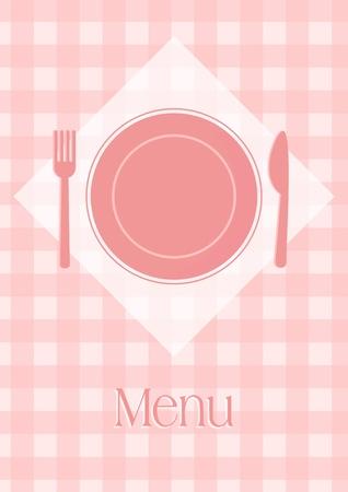 Menu or restaurant invitation card. Vector illustration