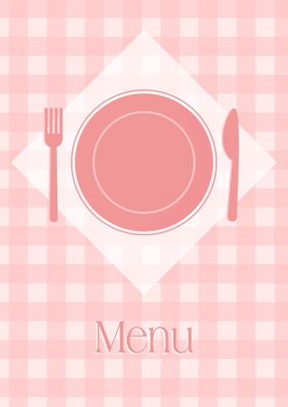 Menu or restaurant invitation card. Vector illustration