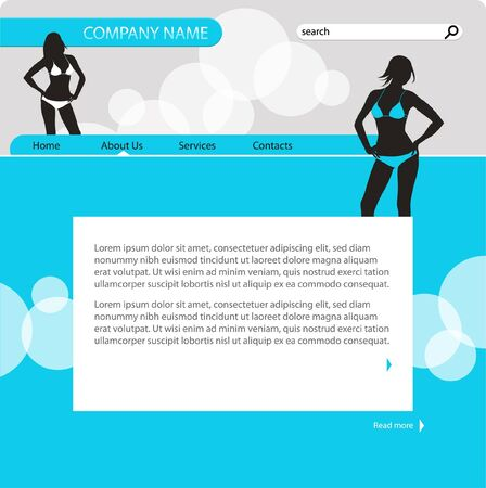 Website design template, vector Illustration