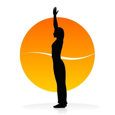 vitality: Yoga vector silhouette