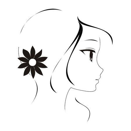crescent: Anime girl