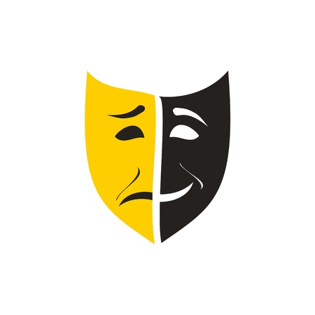 comedy tragedy: theatre mask Illustration