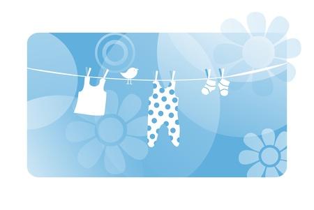 baby born announcement card photo