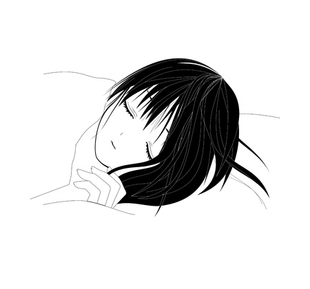 repose: sleeping girl Stock Photo