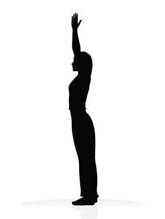yoga silhouette Stock Vector - 11820330