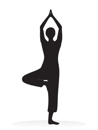 yoga vector silhouette Stock Vector - 11820327
