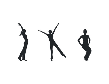 Fitness woman silhouettes Vector