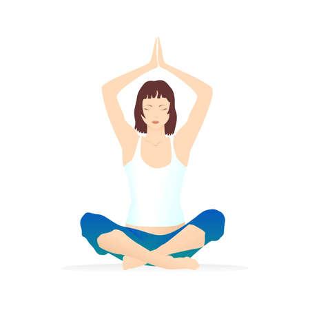 legged: Illustration of a woman in yoga asana