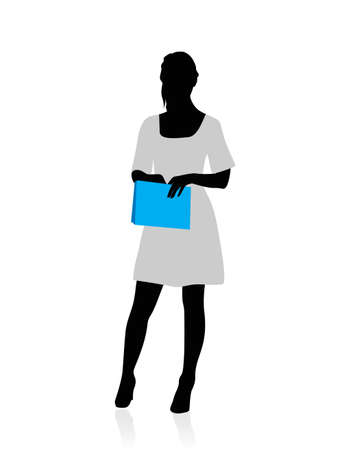 Business woman silhouette Stock Vector - 12495406