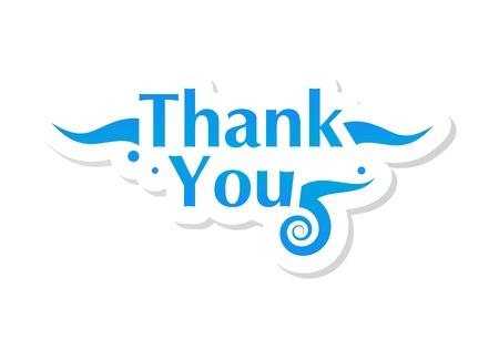 gratitudine: Grazie grafica Vettoriali