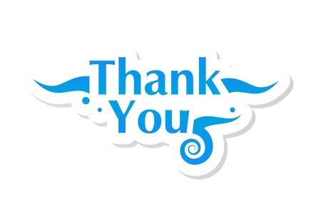 Thank you graphic Stock Vector - 15048103