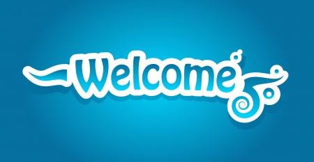 Welcome vector lettering Stock Vector - 15048115