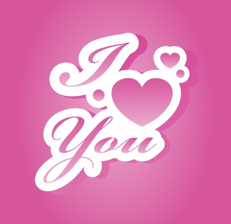 I love you lettering Stock Vector - 15152405