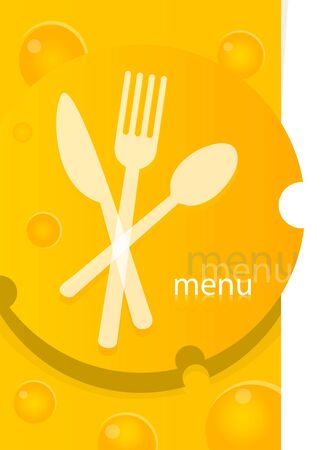 Cute design of menu template card Vector