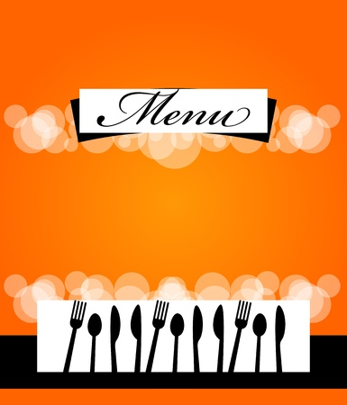 Cute design of menu template card