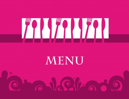 Cute design of menu template card Stock Vector - 15152422