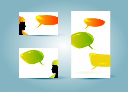Speech bubble banner templates vector illustration Stock Vector - 15392995