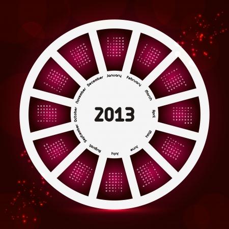Calendar for 2013 Stock Vector - 15810374