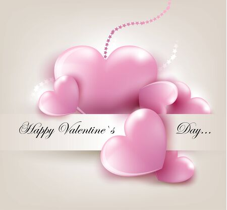 dear: Valentin s Day card with pink hearts