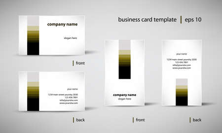 business card template set Illustration