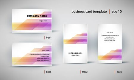 creative business card template set