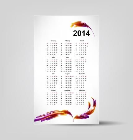 calendar for 2014 Stock Vector - 19755305