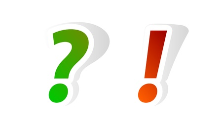 interrogative: Question and exclamation mark stickers