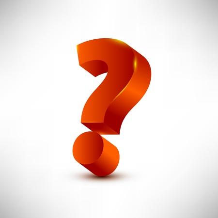 interrogative: question mark