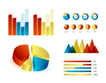 descriptive colours: Infographics elements  Editable vector illustration  Eps 10