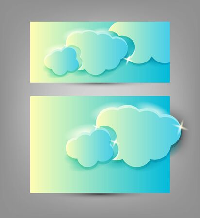 banners templates with clouds on it, editable vector illustration Vector