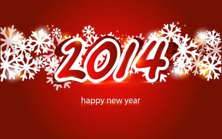 New year 2014 card Vector