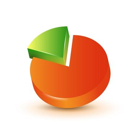 descriptive color: Infographics elements. 3d pie chart.